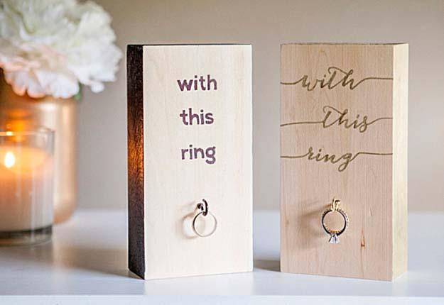 Fun DIY Projects for Wedding Decor - DIY Wedding Ring Holder Craft Tutorial - DIY Projects & Crafts by DIY JOY #diy #quickcrafts #crafts #easycraftss
