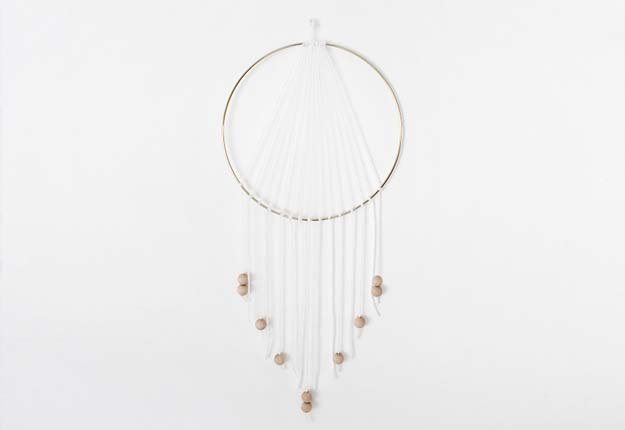 Cheap DIY Projects for Teen Girls Room Decor - Homemade Dreamcatcher - DIY Projects & Crafts by DIY JOY #diy #quickcrafts #crafts #easycraftss