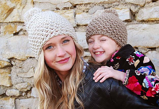 Easy DIY Project Ideas for Kids Clothes - Quick Crocheting Tutorials for Beanies - DIY Projects & Crafts by DIY JOY #diy #quickcrafts #crafts #easycraftss