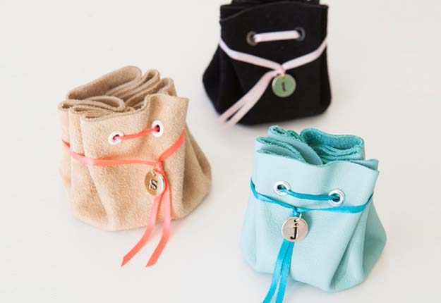 Fun DIY Projects for Teen Girls to Make in Under an Hour - Easy No Sew DIY Jewelry Pouches - DIY Projects & Crafts by DIY JOY #diy #quickcrafts #crafts #easycraftss