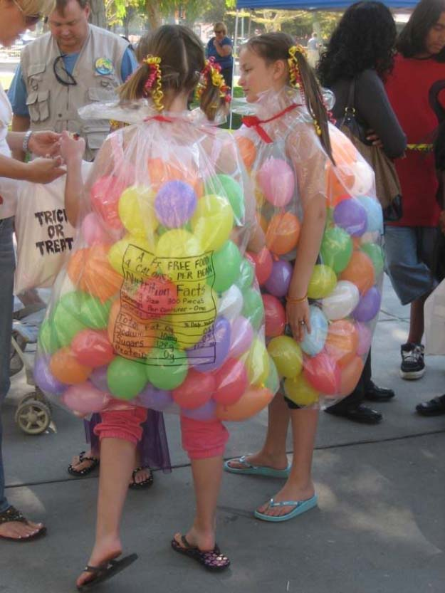Last Minute DIY Halloween Costumes - Quick Ideas for Adults, Kids and Teens - Jelly Bellies Costume Tutorial