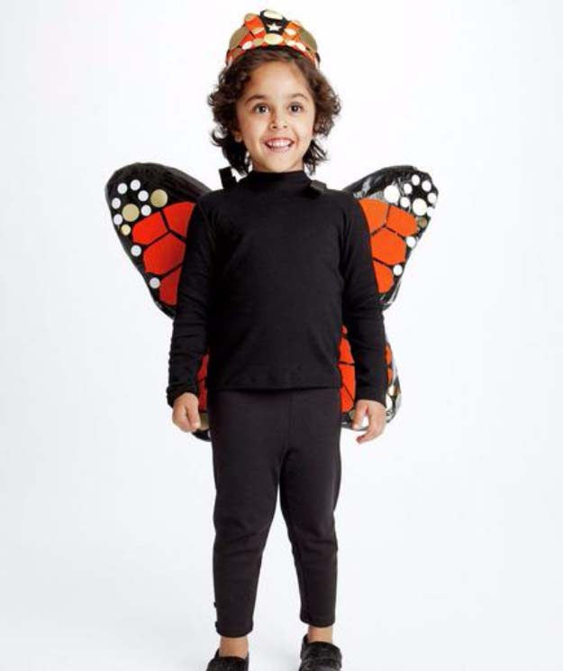 Last Minute DIY Halloween Costumes - Quick Ideas for Adults, Kids and Teens - Cute Butterfly Costume Tutorial