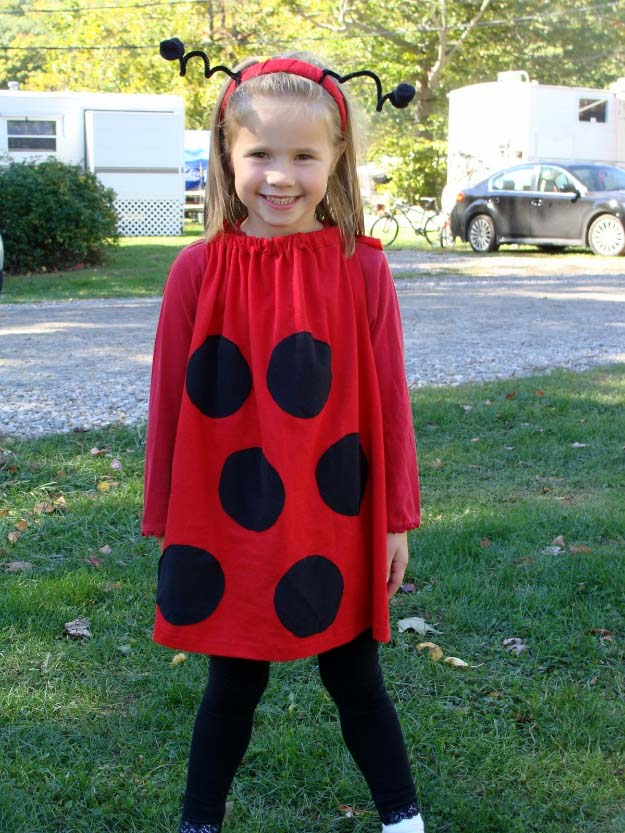 Last Minute DIY Halloween Costumes - Quick Ideas for Adults, Kids and Teens - Super Easy Lady Bug Costume Tutorial