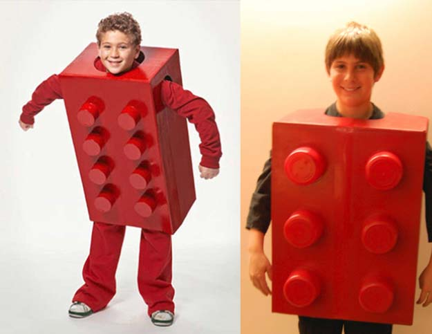 Last Minute DIY Halloween Costumes - Quick Ideas for Adults, Kids and Teens - Lego Costume Tutorial