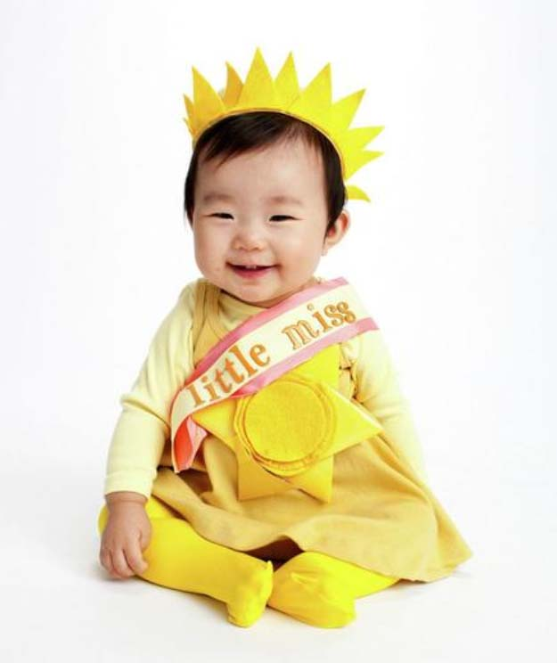 Last Minute DIY Halloween Costumes - Quick Ideas for Adults, Kids and Teens - Little Miss Sunshine Baby Costume Tutorial