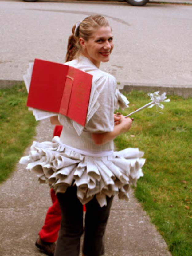 Last Minute DIY Halloween Costumes - Quick Ideas for Adults, Kids and Teens - Book Fairy Costume Tutorial
