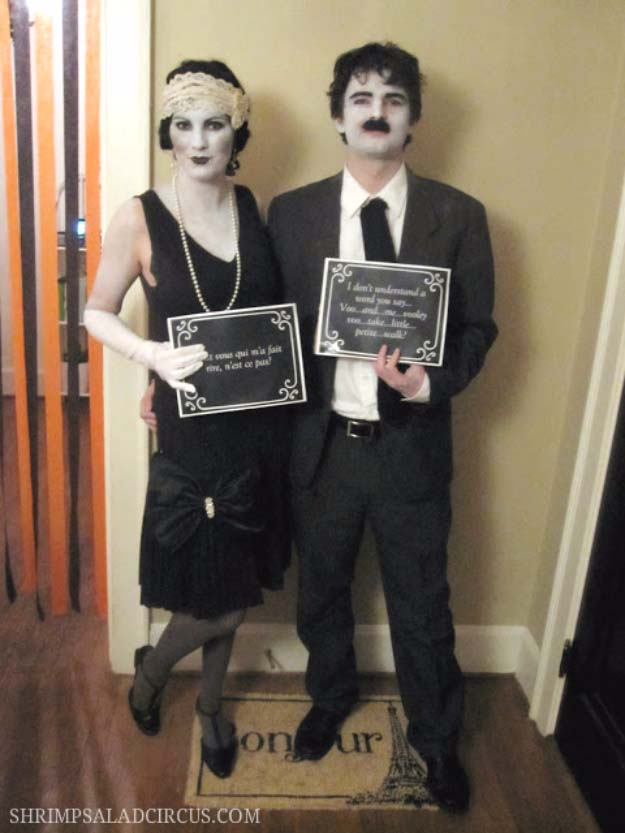 Last Minute DIY Halloween Costumes - Quick Ideas for Adults, Kids and Teens - Silent Film Star Halloween Costume Tutorial