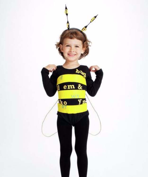 Last Minute DIY Halloween Costumes - Quick Ideas for Adults, Kids and Teens - Spelling Bee Costume Tutorial