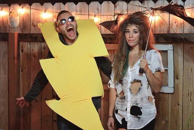 Last Minute DIY Halloween Costumes - Quick Ideas for Adults, Kids and Teens - Thunder and Lightning Costume Tutorial
