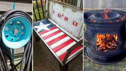 23 DIYs Made From Old Upcycled Car Parts | DIY Joy Projects and Crafts Ideas