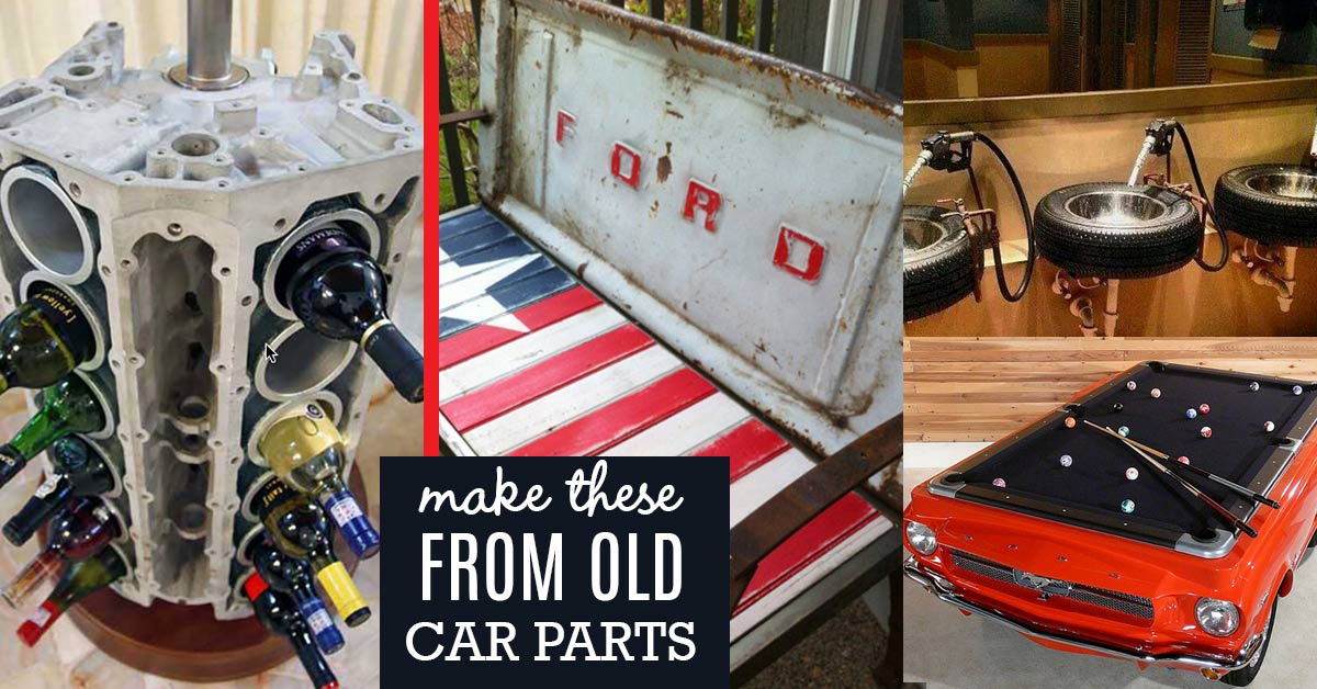 Cool DIY Projects Made From Old Car Parts - DIY Joy