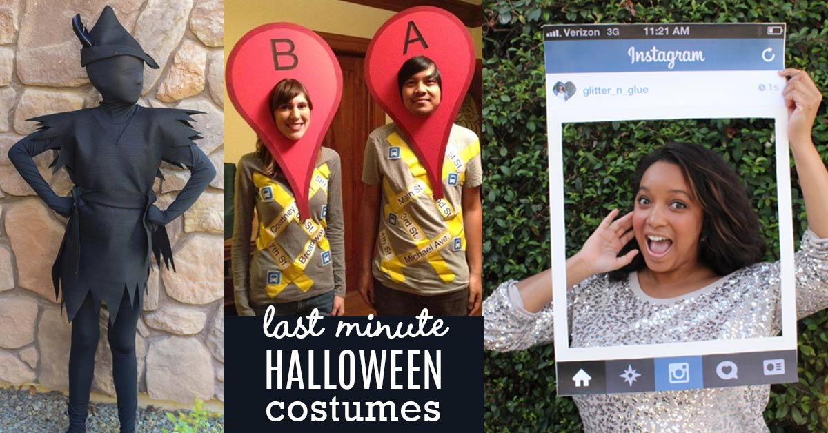 sc 1 st  DIY Joy & 36 Last Minute DIY Halloween Costumes