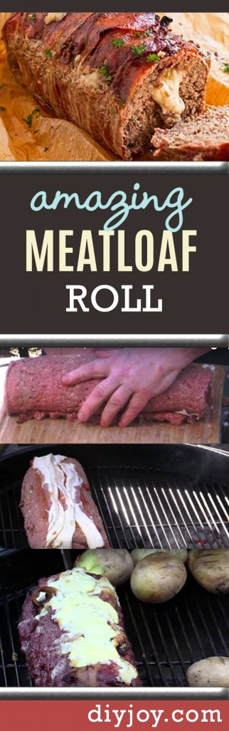 Awesome Meatloaf Roll Recipe - Best Dinner Recipe Ideas and Party Food Ideas for the Grill