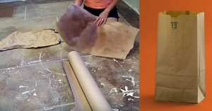 She Used Paper Bags to Create Her Flooring and The Results Blew Us Away!