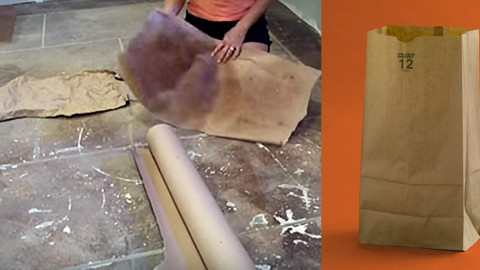 She Used Paper Bags to Create Her Flooring and The Results Blew Us Away! | DIY Joy Projects and Crafts Ideas