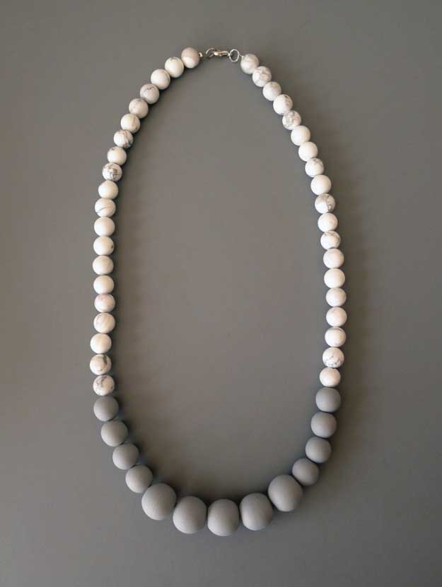 27 MORE Expensive Looking DIY Gifts. Crafts and DIY Gift Ideas for Him, for Her, for Family and Friends. Perfect for Birthday, Christmas, Mom and Dad. | DIY Marble Necklace | http://diyjoy.com/homemade-diy-gifts-pinterest