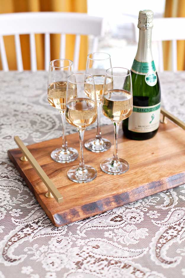 27 MORE Expensive Looking DIY Gifts. Crafts and DIY Gift Ideas for Him, for Her, for Family and Friends. Perfect for Birthday, Christmas, Mom and Dad. | Bar Serving Tray | http://diyjoy.com/homemade-diy-gifts-pinterest