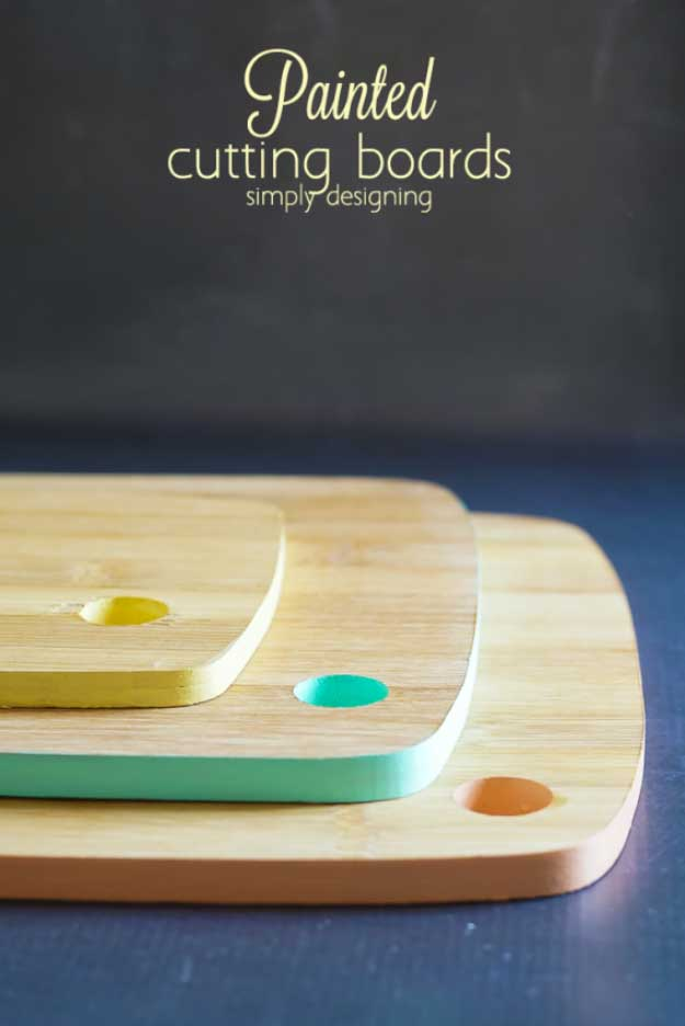 27 MORE Expensive Looking DIY Gifts. Crafts and DIY Gift Ideas for Him, for Her, for Family and Friends. Perfect for Birthday, Christmas, Mom and Dad. | Painted Cutting Boards | http://diyjoy.com/homemade-diy-gifts-pinterest