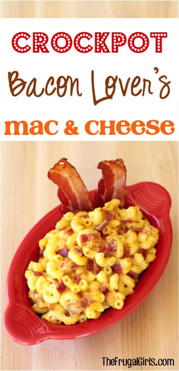 Easy Crock Pot Recipes You Have To Try Today   Best Easy Slow Cooker Recipe Ideas for the Crockpot Include beef stew, chili, chicken dinner dishes, soup and more   Bacon Lover's Crockpot Mac & Cheese #crockpot #crockpotrecipes #easyreipes/