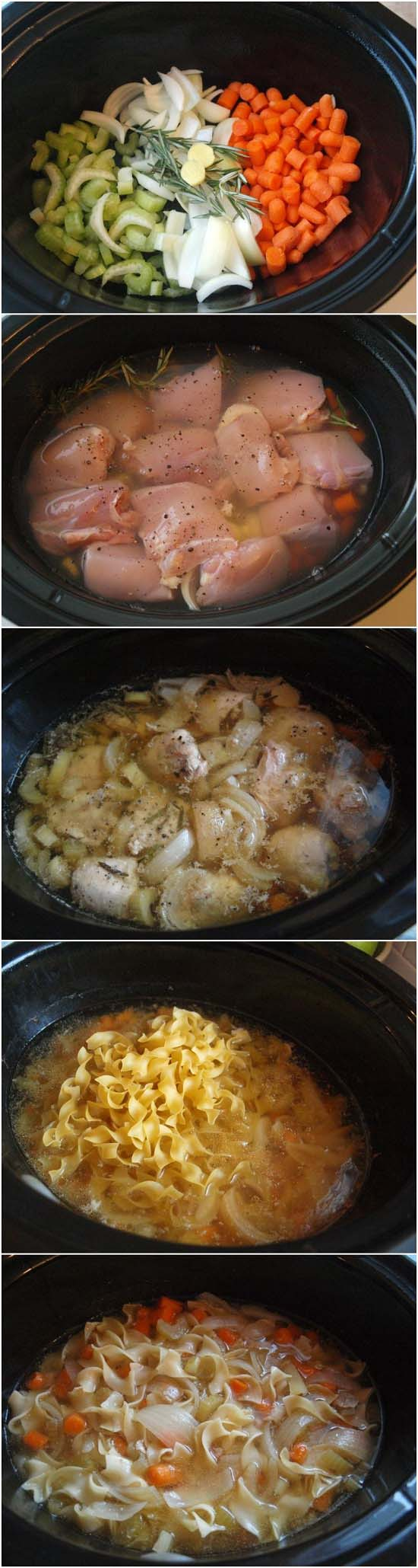 Easy Crock Pot Recipes You Have To Try Today   Best Easy Slow Cooker Recipe Ideas for the Crockpot Include beef stew, chili, chicken dinner dishes, soup and more   Crockpot Chicken Noodle Soup #crockpot #crockpotrecipes #easyreipes/