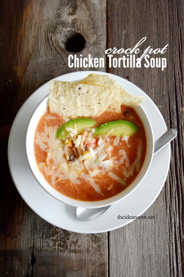 Easy Crock Pot Recipes You Have To Try Today   Best Easy Slow Cooker Recipe Ideas for the Crockpot Include beef stew, chili, chicken dinner dishes, soup and more   Crockpot Chicken Tortilla Soup #crockpot #crockpotrecipes #easyreipes/