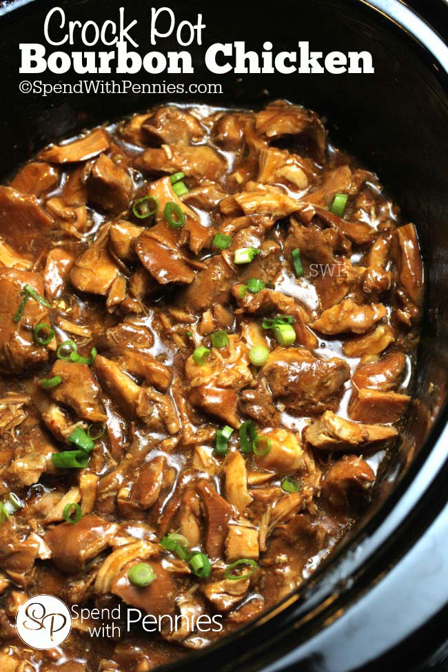 Easy Crock Pot Recipes You Have To Try Today   Best Easy Slow Cooker Recipe Ideas for the Crockpot Include beef stew, chili, chicken dinner dishes, soup and more   Slow Cooker Bourbon Chicken  