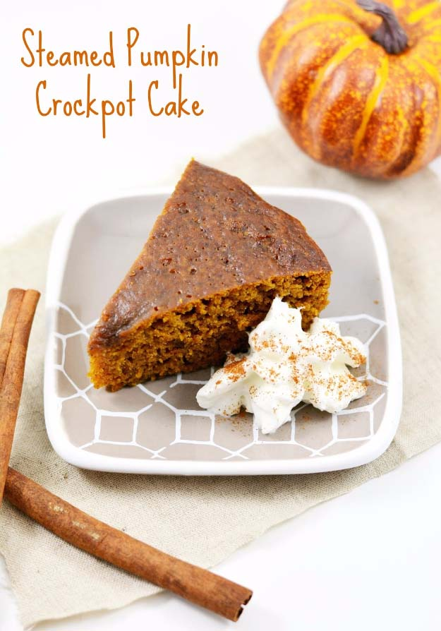 Easy Crock Pot Recipes You Have To Try Today | Best Easy Slow Cooker Recipe Ideas for the Crockpot Include beef stew, chili, chicken dinner dishes, soup and more | Steamed Pumpkin Crockpot Cake #crockpot #crockpotrecipes #easyreipes/