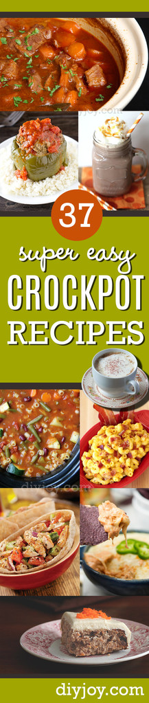 Easy Crock Pot Recipes You Have To Try Today | Best Easy Slow Cooker Recipe Ideas for the Crockpot Include beef stew, chili, chicken dinner dishes, soup and more
