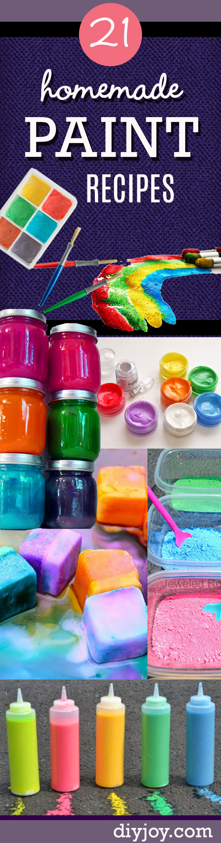 21 easy diy paint recipes your kids will go crazy for for Awesome crafts to do at home