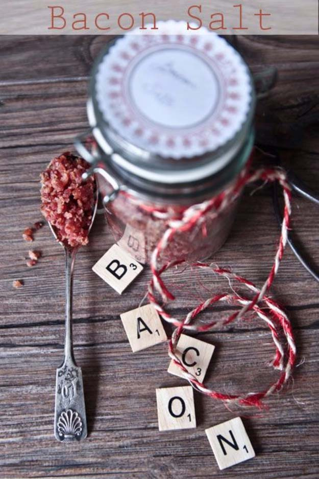 DIY Gifts For Men | Awesome Ideas for Your Boyfriend, Husband, Dad - Father , Brother Cool Homemade DIY Crafts Men Love to Receive for Christmas, Birthdays, Anniversaries and Valentine's Day | Bacon Salt #diygifts #diyideas #crafts