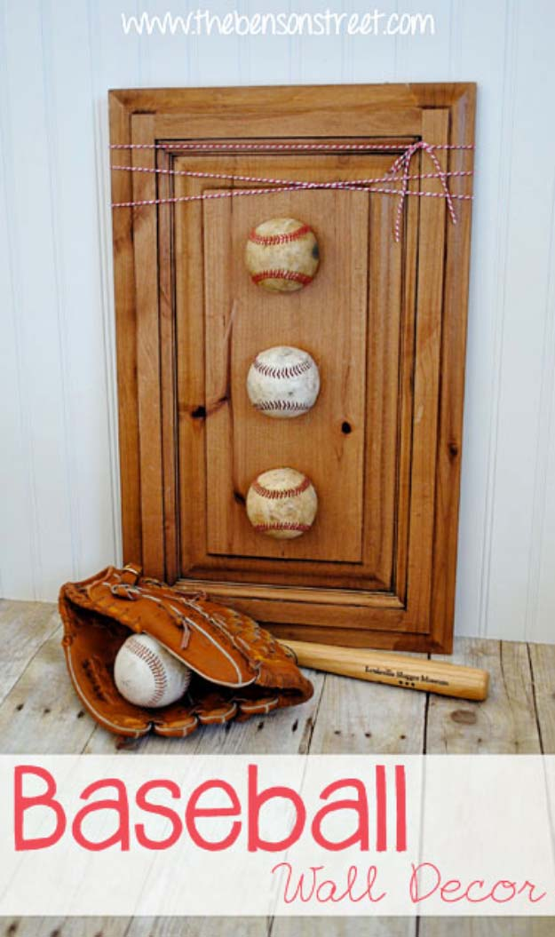 DIY Gifts For Men | Awesome Ideas for Your Boyfriend, Husband, Dad - Father , Brother Cool Homemade DIY Crafts Men Love to Receive for Christmas, Birthdays, Anniversaries and Valentine's Day | Baseball Wall Decor #diygifts #diyideas #crafts