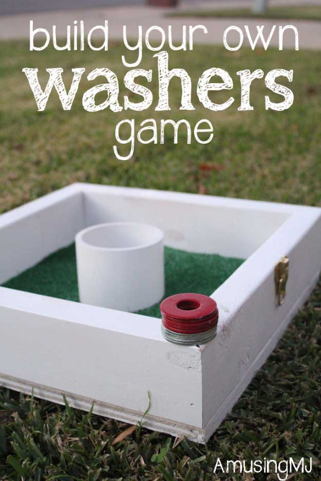 Awesome Crafts for Men and Manly DIY Project Ideas Guys Love - Fun Gifts, Manly Decor, Games and Gear. Tutorials for Creative Projects to Make This Weekend | Build Your Own Washers Game #diy #craftsformen #guys #giftsformen
