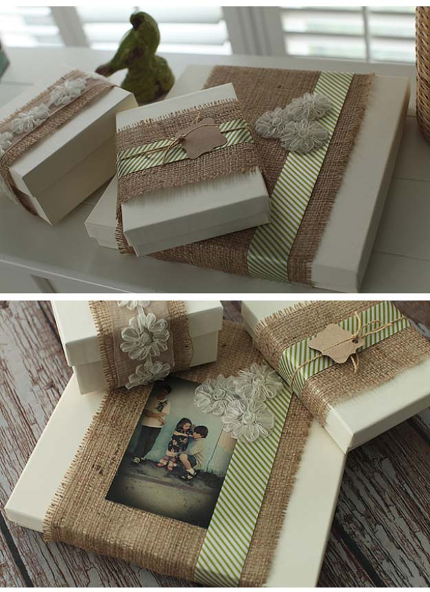 DIY Projects with Burlap and Creative Burlap Crafts for Home Decor, Gifts and More | Burlap Gift Packaging