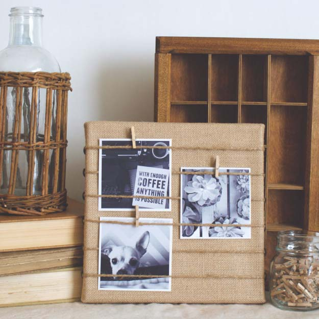 DIY Projects with Burlap and Creative Burlap Crafts for Home Decor, Gifts and More | Burlap Memo Board