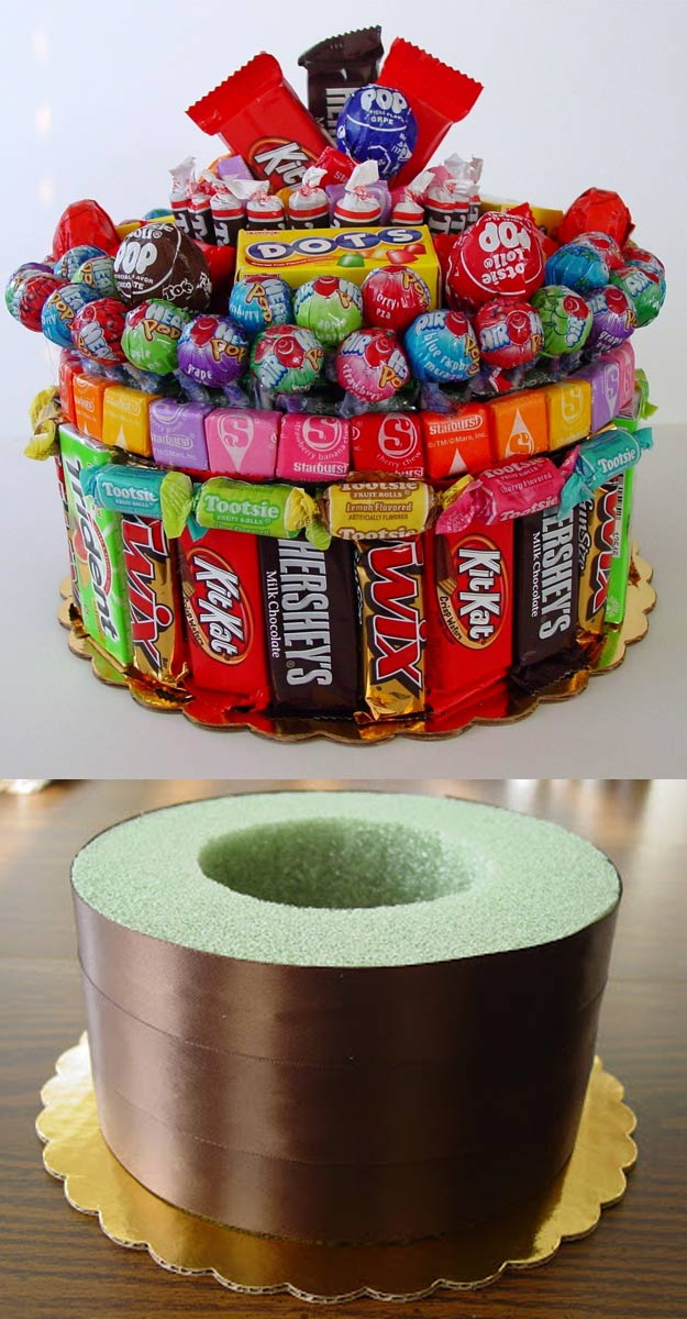 DIY Gifts for Your Girlfriend and Cool Homemade Gift Ideas for Her | Easy Creative DIY Projects and Tutorials for Christmas, Birthday and Anniversary Gifts for Mom, Sister, Aunt, Teacher or Friends |Creative Cavity Cake Gift Idea for Sugar Lovers #diygifts #diyideas