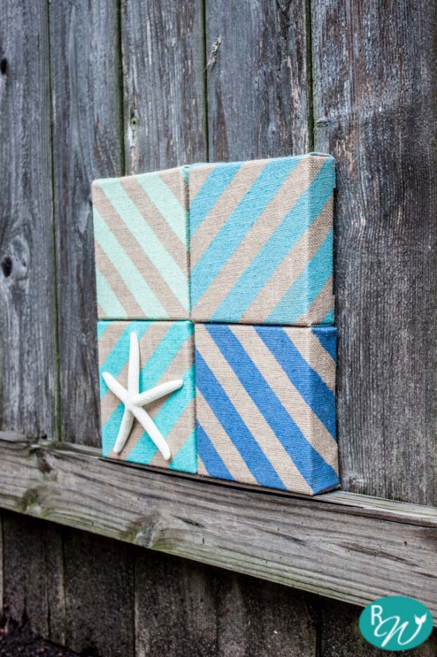 DIY Projects with Burlap and Creative Burlap Crafts for Home Decor, Gifts and More | Coastal Burlap Decor
