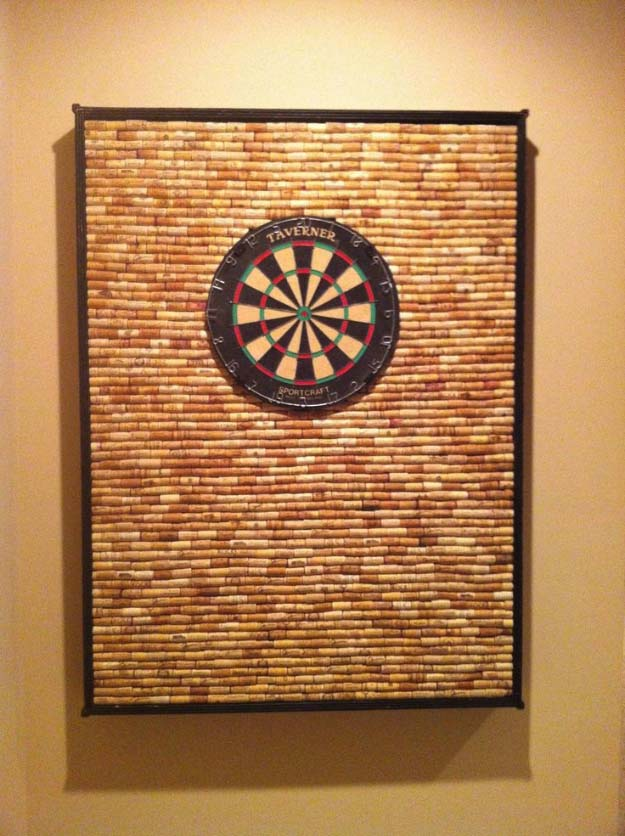 DIY Gifts For Men | Awesome Ideas for Your Boyfriend, Husband, Dad - Father , Brother Cool Homemade DIY Crafts Men Love to Receive for Christmas, Birthdays, Anniversaries and Valentine's Day | Corkwall Dart Board #diygifts #diyideas #crafts
