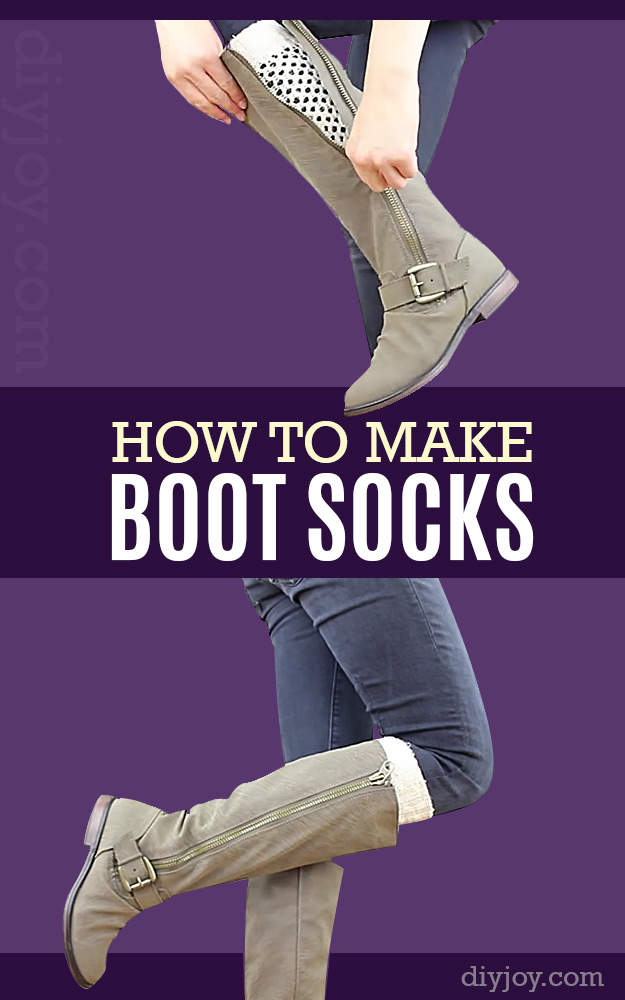 DIY Gifts for Your Girlfriend and Cool Homemade Gift Ideas for Her | Easy Creative DIY Projects and Tutorials for Christmas, Birthday and Anniversary Gifts for Mom, Sister, Aunt, Teacher or Friends | DIY Boot Socks#diygifts #diyideas