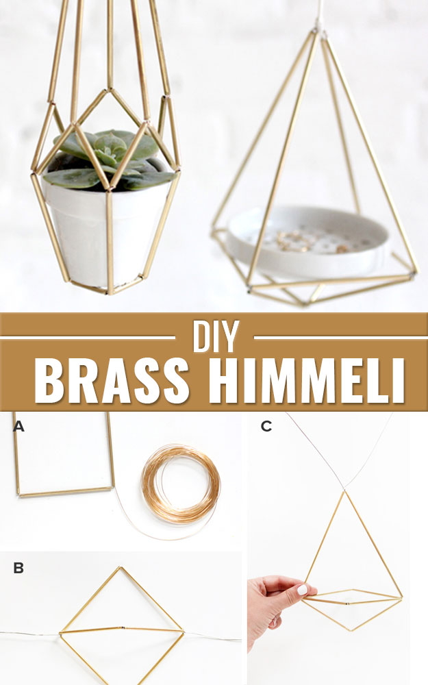 DIY Gifts for Your Parents | Cool and Easy Homemade Gift Ideas That Mom and Dad Will Love | Creative Christmas Gifts for Parents With Step by Step Instructions | Crafts and DIY Projects by DIY JOY | DIY-Brass-Himmeli #diy #diygifts #christmasgifts
