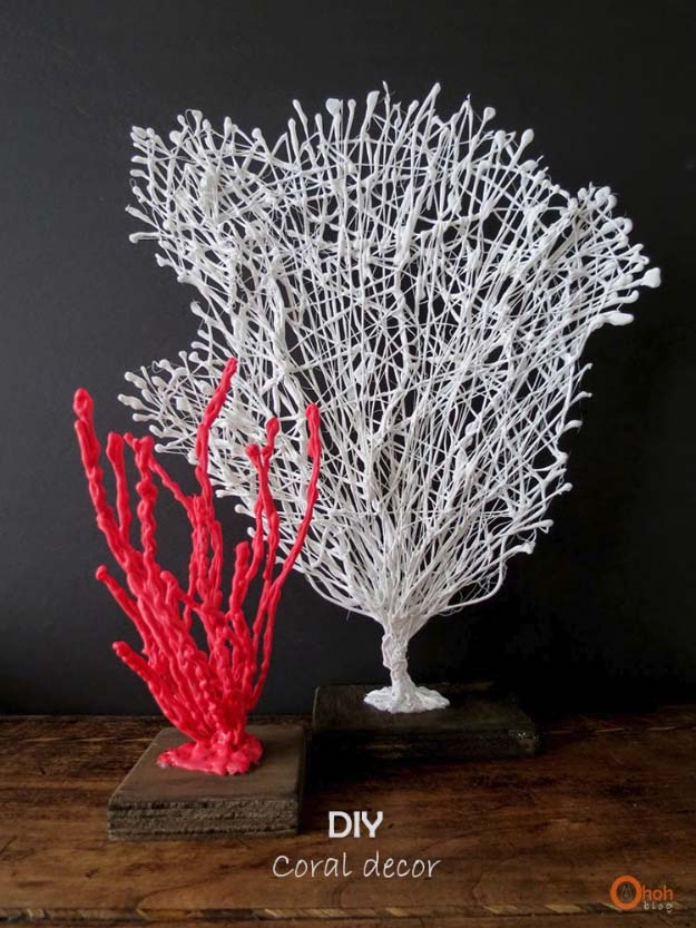 5 diy coral home decor - Crafting Ideas For Home Decor