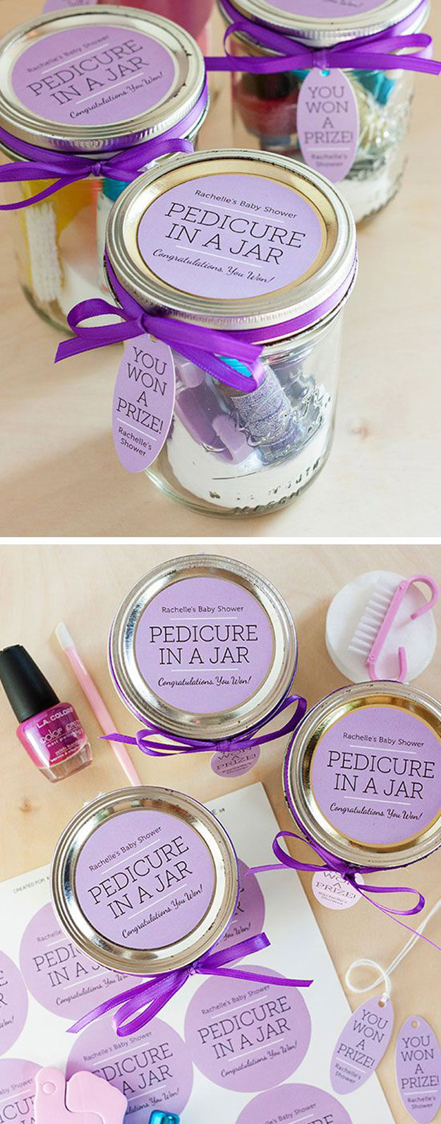 Homemade DIY Gifts in A Jar | Best Mason Jar Cookie Mixes and Recipes, Alcohol Mixers | Fun Gift Ideas for Men, Women, Teens, Kids, Teacher, Mom. Christmas, Holiday, Birthday and Easy Last Minute Gifts | DIY Gift Pedicure in a Jar #diy