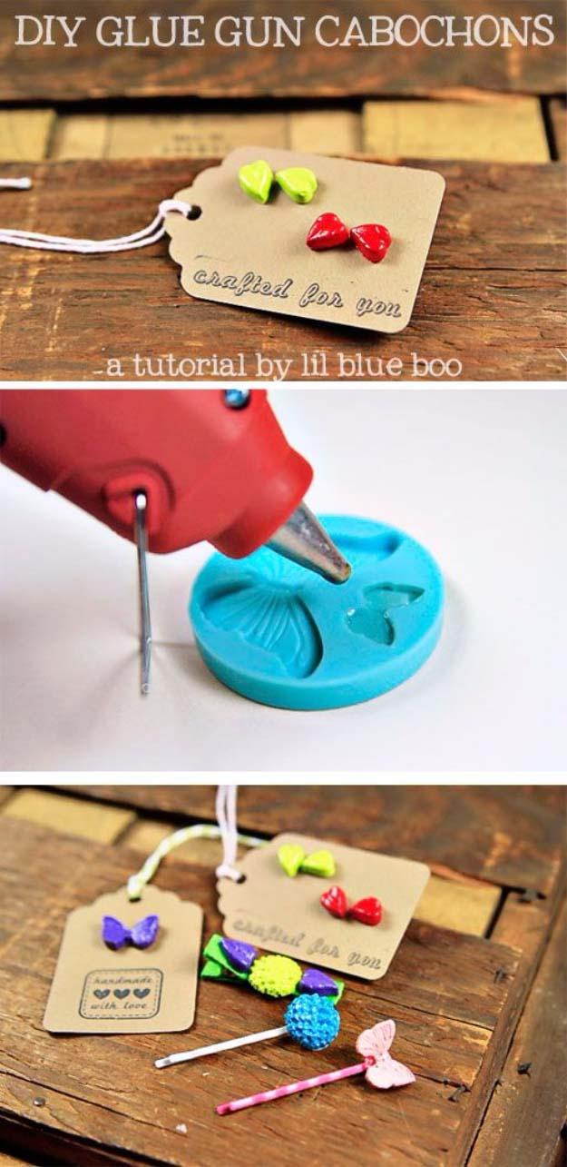Fun Crafts To Do With A Hot Glue Gun | Best Hot Glue Gun Crafts, DIY Projects and Arts and Crafts Ideas Using Glue Gun Sticks | DIY Glue Gun Cabochons