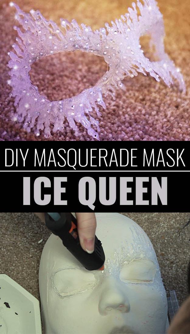 Glue Gun Crafts DIY | Best Hot Glue Gun Crafts, DIY Projects and Arts and Crafts Ideas Using Glue Gun Sticks | DIY-Masquerade-Mask-Ice-Queen #diy #crafts #gluegun