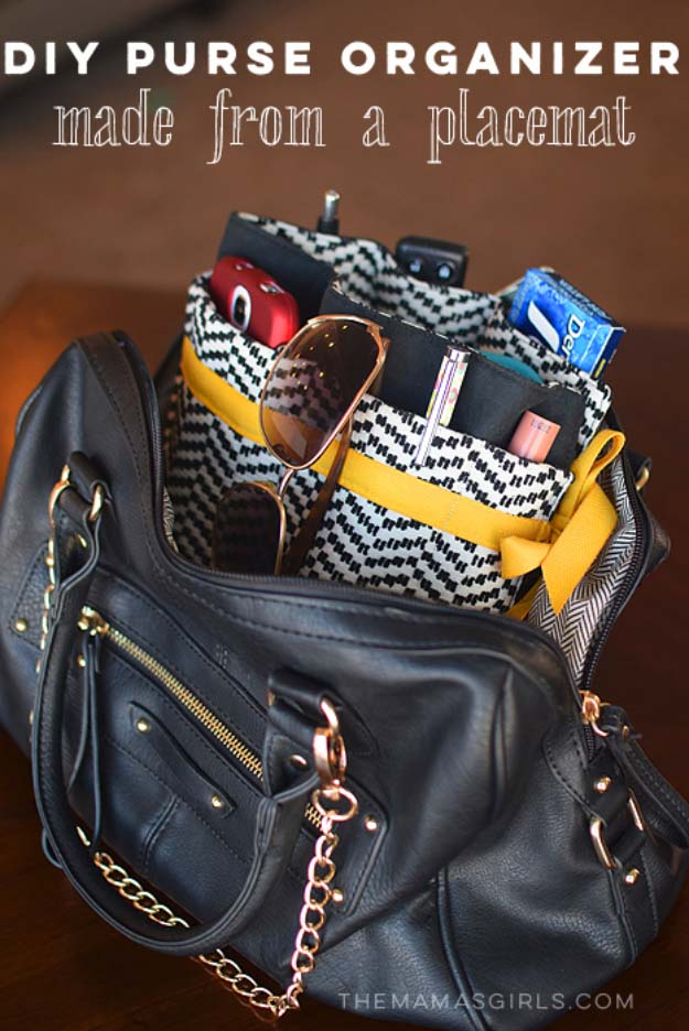 DIY Gifts for Your Girlfriend and Cool Homemade Gift Ideas for Her | Easy Creative DIY Projects and Tutorials for Christmas, Birthday and Anniversary Gifts for Mom, Sister, Aunt, Teacher or Friends |DIY - DYI Purse Organizer #diygifts #diyideas