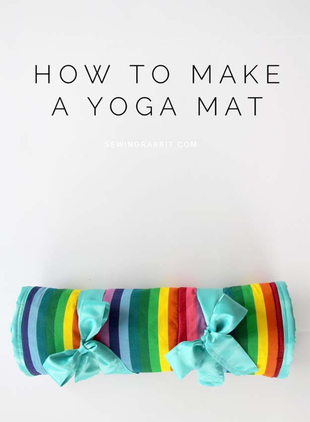DIY Gifts for Your Girlfriend and Cool Homemade Gift Ideas for Her | Easy Creative DIY Projects and Tutorials for Christmas, Birthday and Anniversary Gifts for Mom, Sister, Aunt, Teacher or Friends | DIY Yoga Mat #diygifts #diyideas
