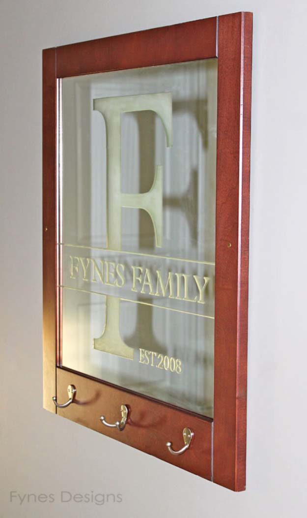 DIY Gifts for Your Parents   Cool and Easy Homemade Gift Ideas That Mom and Dad Will Love   Creative Christmas Gifts for Parents With Step by Step Instructions   Crafts and DIY Projects by DIY JOY   Easy DIY Etched Family name and Initials on Glass  