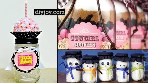 53 Coolest DIY Mason Jar Gifts + Other Fun Ideas in A Jar | DIY Joy Projects and Crafts Ideas