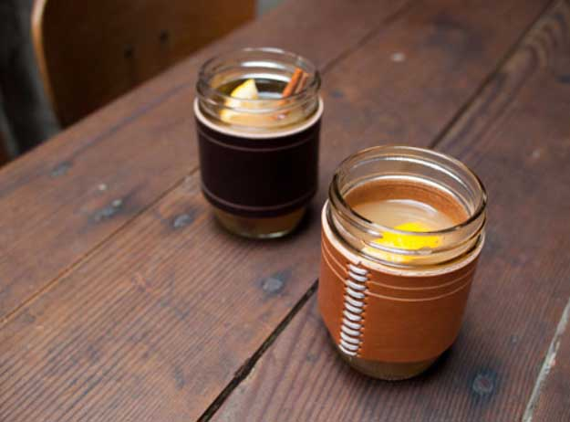 Cool Gifts to Make For Guys- Fun DIY Gifts - Leather Crafts for Men - Football DIY Koozie for Beer or Soda Made of Leather - Tutorial for Creative Projects to Make #diy #craftsformen #guys #giftsformen