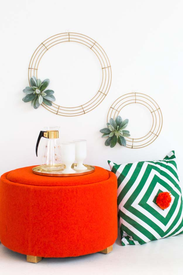DIY Christmas Wreaths for Easy Holiday Decor Ideas to Make for Decorations - Geometric Wreath