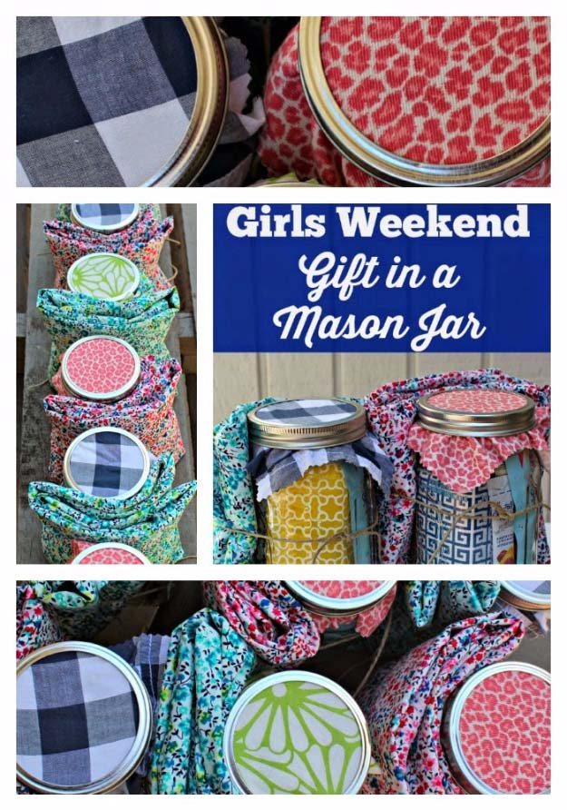 Homemade DIY Gifts in A Jar | Best Mason Jar Cookie Mixes and Recipes, Alcohol Mixers | Fun Gift Ideas for Men, Women, Teens, Kids, Teacher, Mom. Christmas, Holiday, Birthday and Easy Last Minute Gifts | Girls Weekend Gift in a Mason Jar | http://diyjoy.com/diy-gifts-in-a-jar